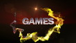 GAMES Text in Particle (Double Version) - HD1080