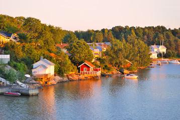 Turku vicinity at sunset