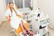 girl in a modern beauty salon