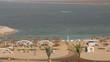 Dead sea and hotel beach