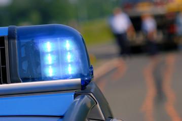 Blaulicht Polizei am Unfallort