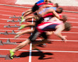 Sprintstart in Bewegungsunschärfe