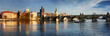 canvas print picture - Charles Bridge in the Prague