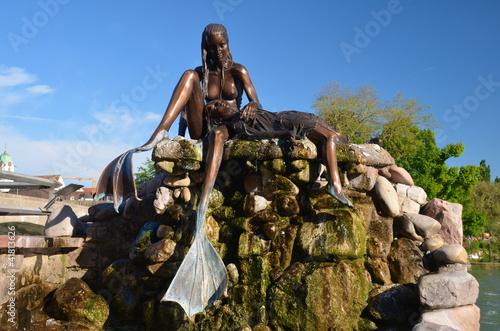 Statue of the Little Mermaid, Rheinfelden Poster