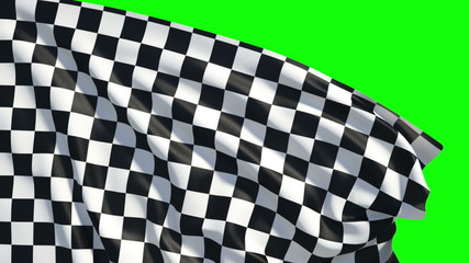 Waving checker finish flag
