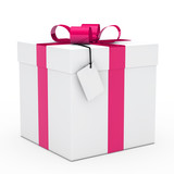 gift box pink ribbon