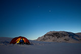 Tent under the Stars wiht Member of a Expedition