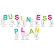Geschäftsleute, Buchstaben, BUSINESS PLAN