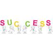 Geschäftsleute, Buchstaben, SUCCESS