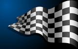 Waving Race Flag