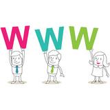 Geschäftsleute, Buchstaben, WWW
