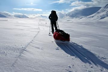auf Wintertour in Skandinavien