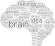 brain tag cloud pictogram