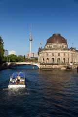 View to the Bode Museum on the Museum Island in Berlin