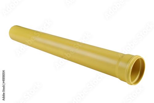 Leinwanddruck Bild PVC plastic pipe for sewers