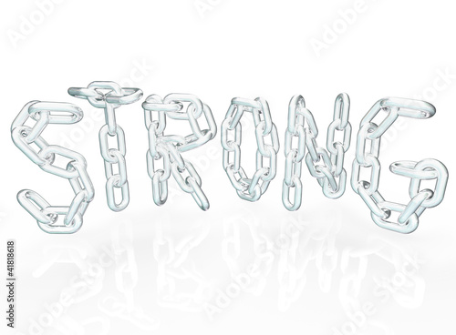 Strong Chain Link Word Letters Metal Chains