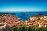 Harbor of old Adriatic island town Hvar. Croatia