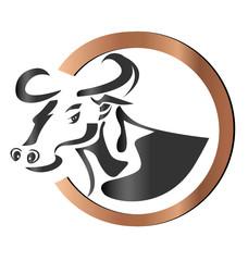Farm cow logo vector
