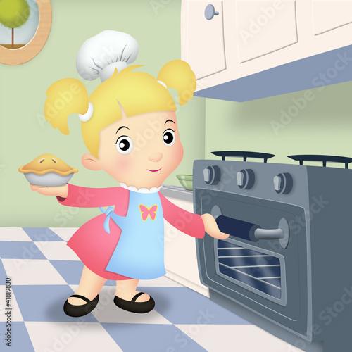 Girl Baking