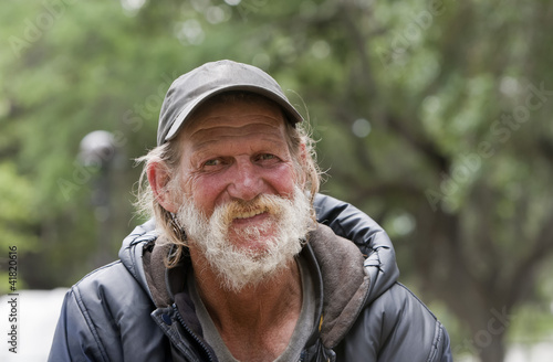 Happy Homeless Man