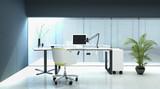 Modern Living Room Interior / Home Office
