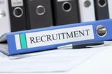 Aktenordner Recruitment poster