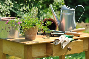 table de jardinage