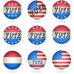 Presidential Election Vote Button SET