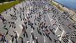 HD - City marathon. Top view