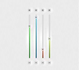 Vector volume bar set