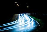 Fototapety Lichtspur bei Nacht | Kurve