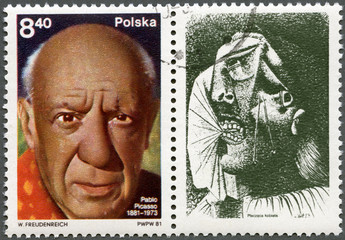 POLAND - 1981: shows Pablo Picasso (1881-1973), artist