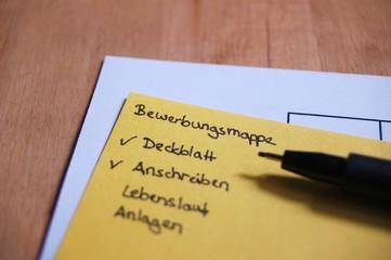 Checkliste Bewerbungsmappe