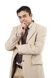 Indian businessman thinking