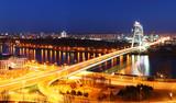 Bratislava bridge at night