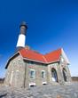 Historic landmark Fire Island Lighthouse on Long Island New York