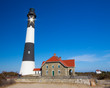 Historic landmark Fire Island Lighthouse on Long Island New York