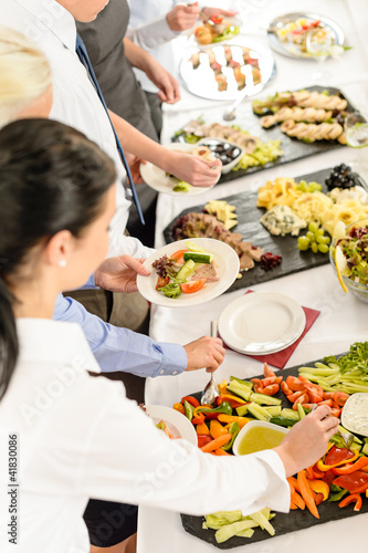 Catering food buffet at business meeting - 41830086