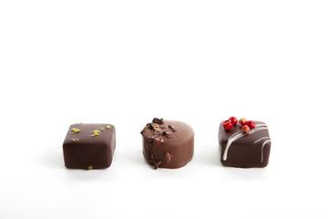 Gemischte Pralinen und Trüffel aus Schokolade