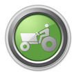 "Green 3D Style Button ""Tractor"""