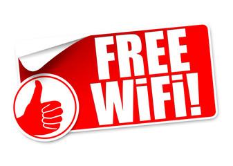 Free WiFi! Button, Icon