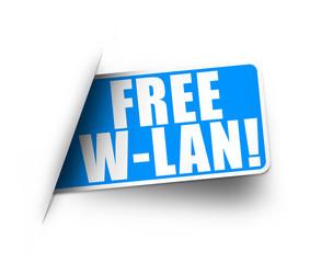 Free W-Lan! Button, Icon