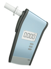 Breath analyzer for measuring blood alcohol content