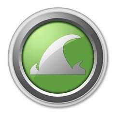 "Green 3D Style Button ""Tsunami"""