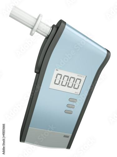 Leinwandbild Motiv Breath analyzer for measuring blood alcohol content