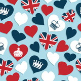 uk hearts pattern
