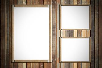 Empty wood advertisement