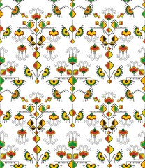 Vector Seamless Eastern Ornament Wallpaper