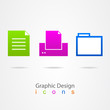 graphic design business color icons.
