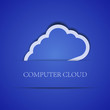 Vector creative computer cloud background. Eps10 illustration